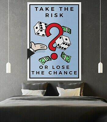 "Motiv-Art ""Take the risk or loose the chance - Monopoly Wall Art"" Monopoly Wall"