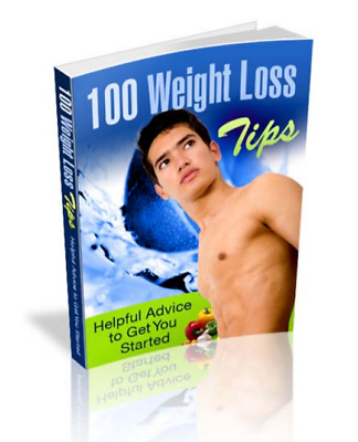 100 WEIGHT LOSS TIPS (eBook, PDF) Free shipping with master resell rights