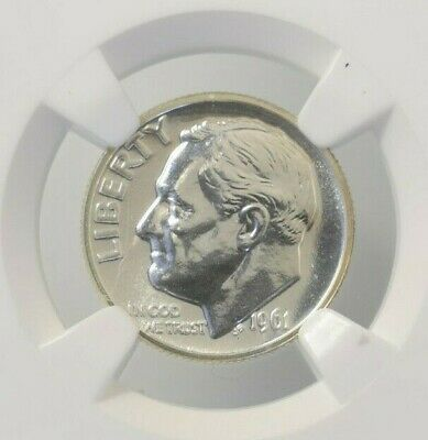 1961 NGC PF67 Proof Roosevelt Dime 90% Silver
