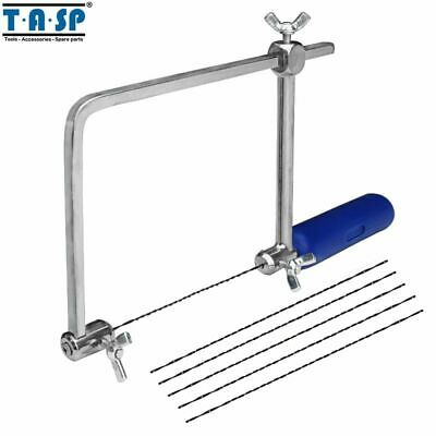 """TASP 4"""" Multifunction Fretsaw Hand Coping Saw Jig Saw Frame Hobby Woodworking"""