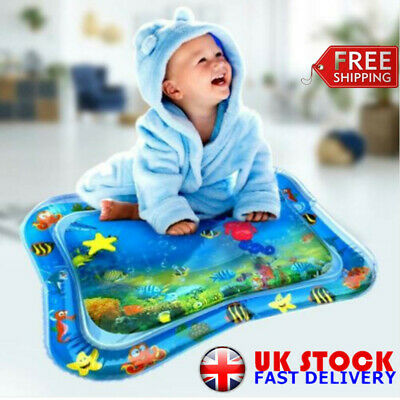 Baby Inflatable Water Play Mat, Fun, Indoor & Outdoor Pad for Toddlers & Infants