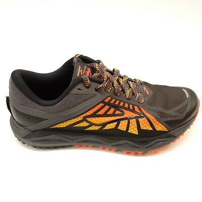 ddb46a835242d Brooks Mens Caldera Size 8.5 Black Off Road Trail Running Athletic Hiking  Shoes