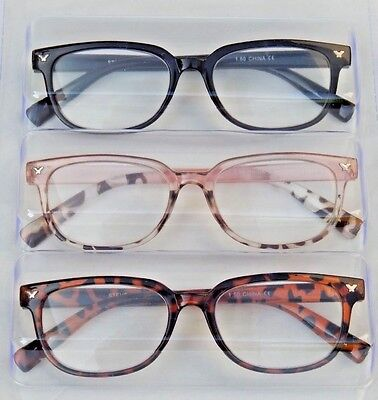 2edf5a03948 STEVE MADDEN 3 Pair Reading Glasses Readers +2.50 New Authentic ...