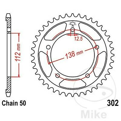 JT Rear Sprocket 45T 530P JTR302.45 Steel Honda CB 1100 SF X-11 2000