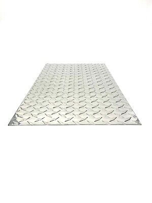 "Diamond tread plate aluminum .045 24"" x 48"" 3003 .18 Gauge Chrome Polish"