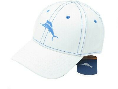 41b8e42bbca TOMMY BAHAMA MARLIN Camper White Adjustable Golf Hat Ball Cap ...