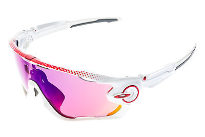 e07e2030b Oakley Jawbreaker Sunglasses Gloss White/Red Frame Prizm Road Lens -  Excellent Satisfaction Guaranteed / Ships in 24 hrs / OSG10038a