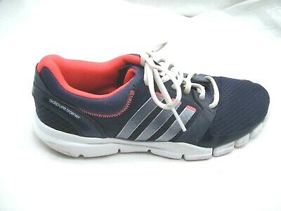 44f555d93b9 Adidas size 9M Adipure navy blue pink trainer womens ladies running shoes