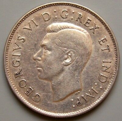 1947 Canada Canadian 50 Cent Silver Coin