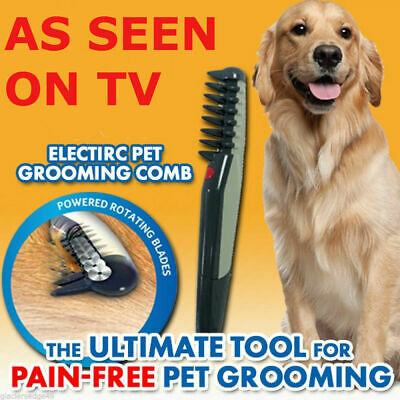Electric Pet Grooming Flea Comb Brush Dog Cat Knot Out Hair Trimmer Tangles