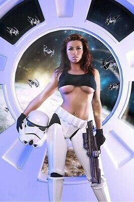 "Star Wars Cosplay  Naked Female Stormtrooper   FRIDGE Magnet 2.5"" x 3.5"""