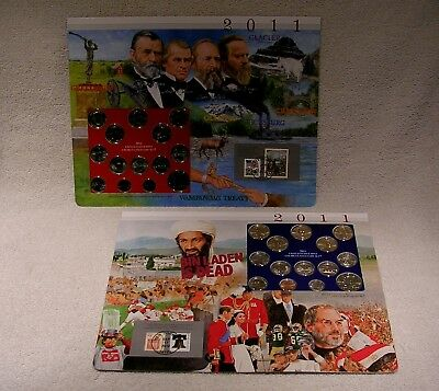 2011 Uncirculated  P & D Mint Sets - Postal Commemorative Society  Coin & Stamp