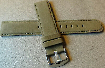 Timex T2N697 Elevated Classics Nubuck Leather Army Green 20mm Sport Watch Band