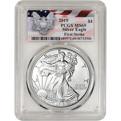2019 American Silver Eagle - PCGS MS69 - First Strike Red Flag Label