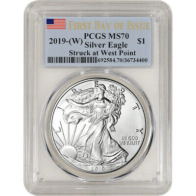 2019-(W) American Silver Eagle - PCGS MS70 - First Day of Issue