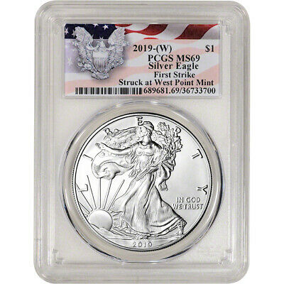 2019-(W) American Silver Eagle - PCGS MS69 - First Strike Red Flag Label