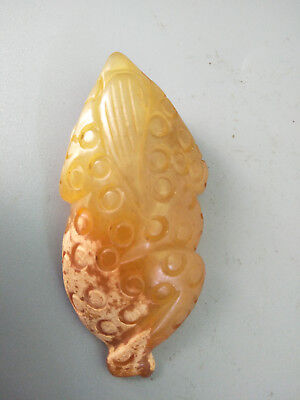 Chinese Exquisite Hand-carved old jade Toad pendants [jīn chán] c122