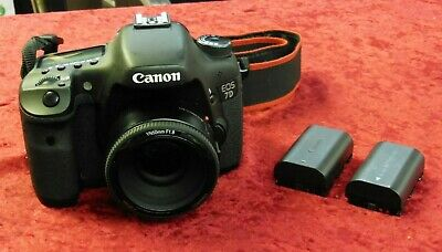 Canon EOS 7D 18MP Digital SLR Camera Black DS126251 with 50mm Yongnuo Lens