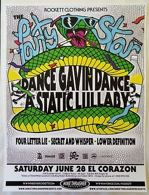 DANCE GAVIN DANCE 2008 Gig POSTER Seattle Washington Concert