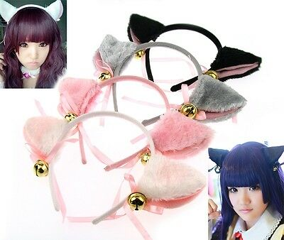 Band Ears Anime Fur Bell Fox Hair Clip Party Costume New Cosplay Cool Cat t