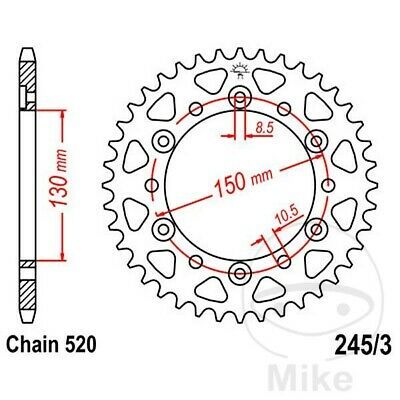 JT Rear Sprocket 43T 520P JTR245/3.43 Steel Yamaha XJ6 600 N SP 2013