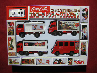 Coca Cola Tomy Antique Collection 4 Pack Gift Set Truck Van Diecast Tomica