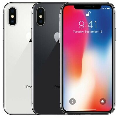 Apple iPhone X 64GB 256GB GSM (FOR AT&T ONLY) Smartphone Cell Phone Grey Silver