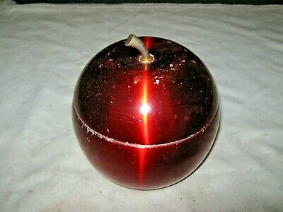 A Vintage Retro 60's Candy Red Anodised Daydream Products Apple Ice Bucket