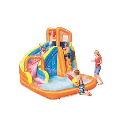 Bestway H2OGO Tobogán de Agua Turbo Splash Water Zone-Mega Water Park Infantil