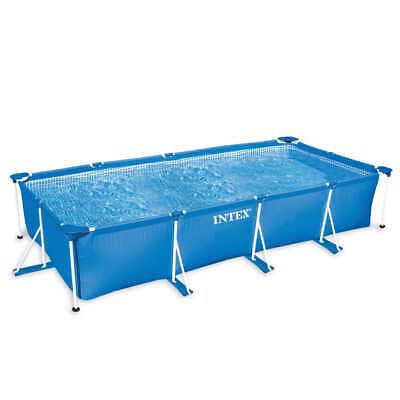 Intex Piscina Desmontable Rectangular Estructura Metálica Acero Small Frame