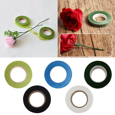 Florist Floral Stem Tape Elastic Wrapping Corsages Crafts Flowers Supply
