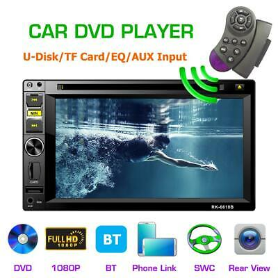 Android 6.2'' Car DVD Player Stereo 2Din FM Radio SWC BT USB AUX Remote Control