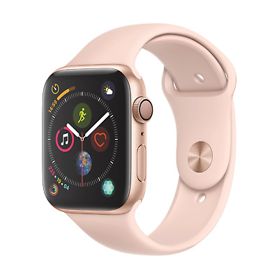 Apple Watch Series 4 GPS 44mm Aluminiumgehäuse Gold mit Sportarmband Sandrosa