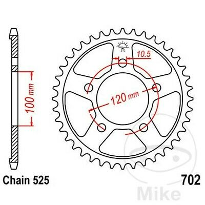 JT Rear Sprocket 44T 525P JTR702.44 Steel Aprilia Caponord 1200 ABS 2016-2017