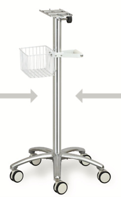 Height Adjustable Mobile Trolley/Cart/Stand with 4 nylon casters and brakes