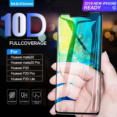 10D For Huawei P30 P20 Mate 20 /Pro/Lite Full Screen Protector Curved Tempered