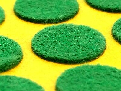 FELT PADS mixed 13mm & 20mm self adhesive green round ornament sticky pad (496)
