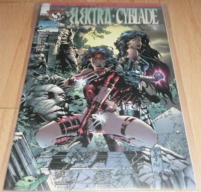 Elektra/Cyblade Devil's Reign #7...Published March 1997 by Marvel