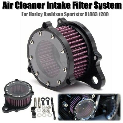 Air Cleaner Intake Filter System Kit For Harley Sportster XL883 1200 2004-2016