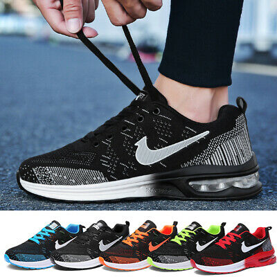 Mens Womens Trainers Fly-knit Sports Running Shoes Air Bottom Casual Trainers UK
