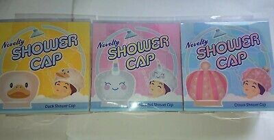 Novelty Shower Cap Narwhal/ Unicorn Crown or Duck Design