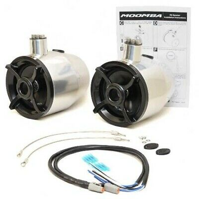 Moomba Boat Tower Speakers 115077 | Roswell R6 Silver Black (Kit)