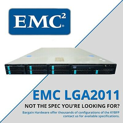 EMC KYBFP 2x E5-2670 8-Core Intel Xeon 64GB RAM Cheap 1U Rack Server