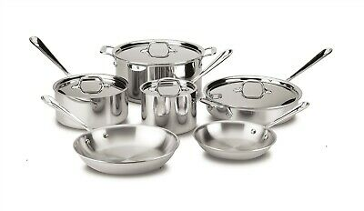 All-Clad 401488R Stainless Steel Tri-Ply Bonded Dishwasher Safe 10 Piece Set
