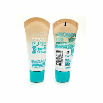 Maybelline Dream Pure BB 8in1 Beauty Balm EU Pack - HELL (LIGHT) 100% Brand New