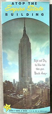Empire State Building vintage travel brochure from late 50's early 1960's b