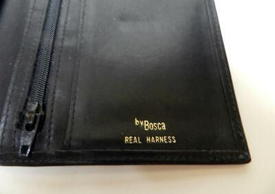 Bosca Wallet Travel Organizer Real Harness  Passport  Black Leather Vnt