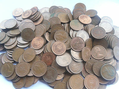 Bargain, 200 Obsolete New Half Penny Coins, SALE NOW ONLY £4.75