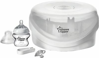 Tommee Tippee Closer To Nature Microwave Steriliser Baby Bottle Feeding New