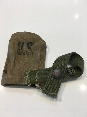 Original WWII U.S. Army M1 Garand Carbine Rifle Muzzle Cover Military 1944